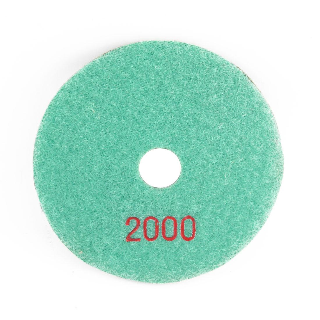 Granite Concrete Buffing Wet Dry Diamond Resin Polishing Pad 2000 Grit 10cm