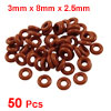 50 Pcs Silicone O Ring Seal Sealing Gasket 3mm x 8mm x 2.5mm