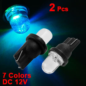 2 x 7 Colors T10 168 194 2825 LED Wedge Indicator Dashboard Light Bulb