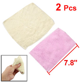 2 x Kitchen Car Microfiber Cleaning Cloth Towels Cleaner Pink Beige