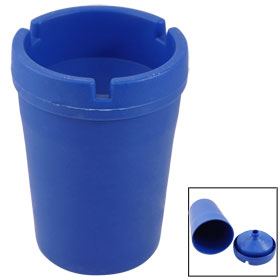 Blue Jumbo Butt Bucket Cigarette Bin Smoking Ashtray for Auto Car