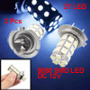2 Pcs H7 27 SMD LED White Fog Light Bulb Replacement for Car Auto