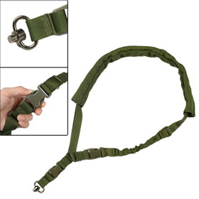 Adjustable Army Green Side Release Buckle Stretchy Gun Rope Sling Airsoft War Game