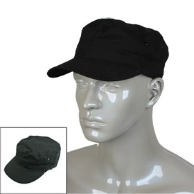 Black Military Army Cadet Cap Hat for Woman Men
