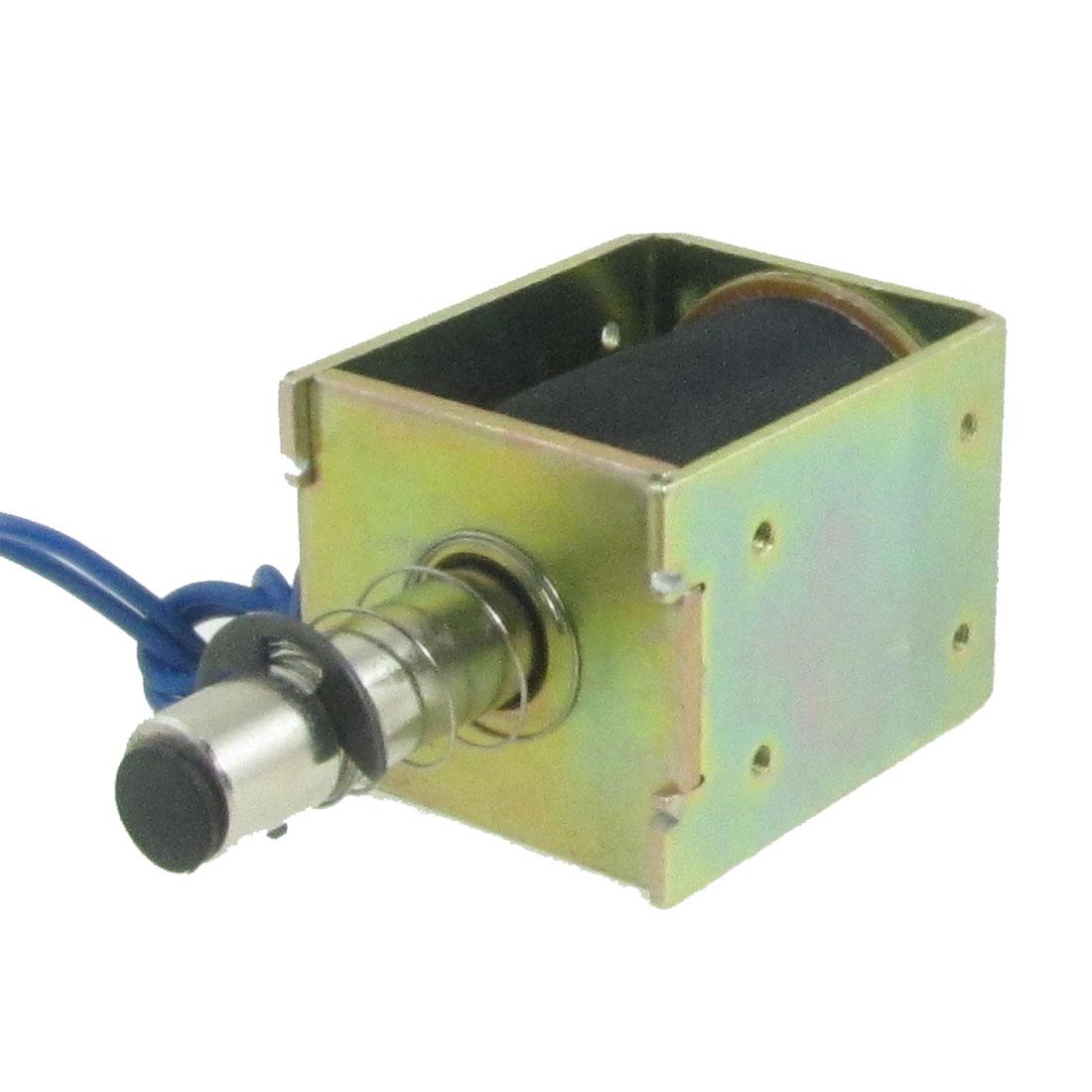 DC 24V 0.48A 18mm 0.015Kg Open Frame Push Type Solenoid Electromagnet