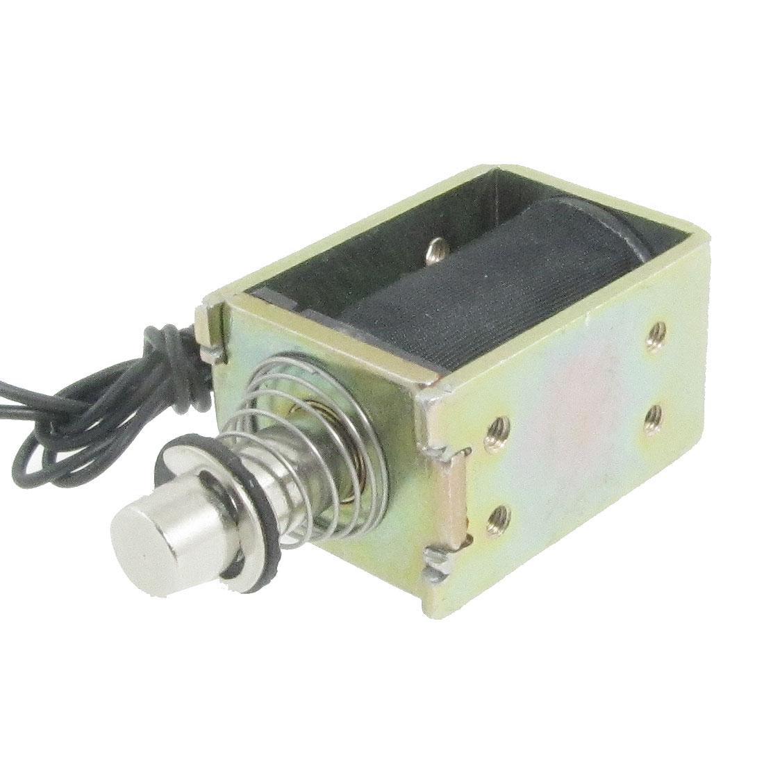 DC 24V 5W 0.21A Push Type Open Frame 3mm 0.4Kg Solenoid Electromagnet