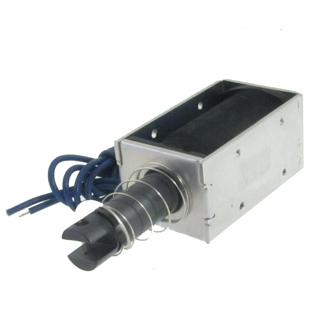 DC 24V 0.8A 5mm 1.7Kg Open Frame Push Type Solenoid Electromagnet