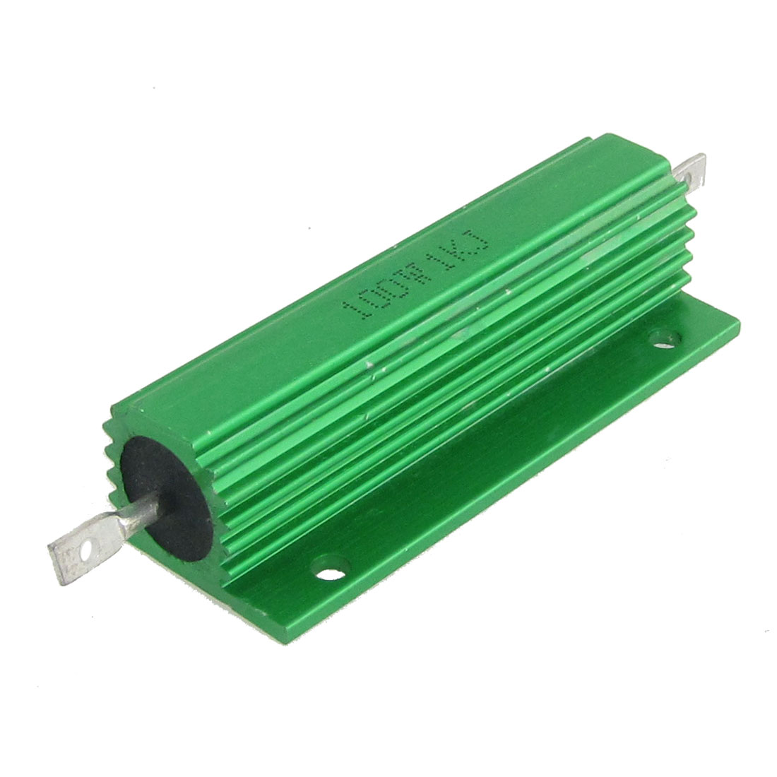 2 Pcs Chasis Mounted Green Aluminum Clad Wirewound Resistors 100W 1K Ohm 5%