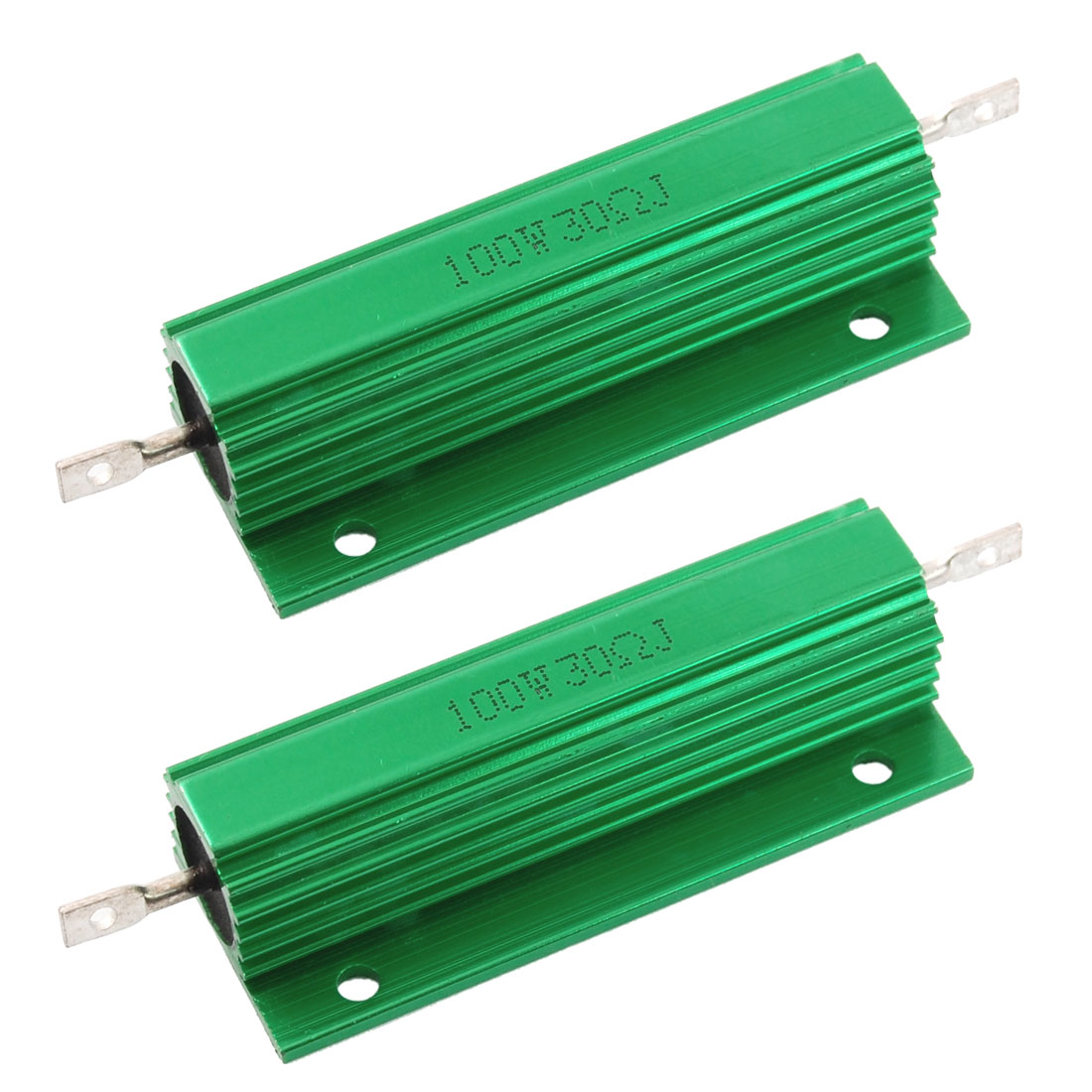 2 x Chassis Mounted 100W 30 Ohm 5% Aluminum Case Wirewound Resistors