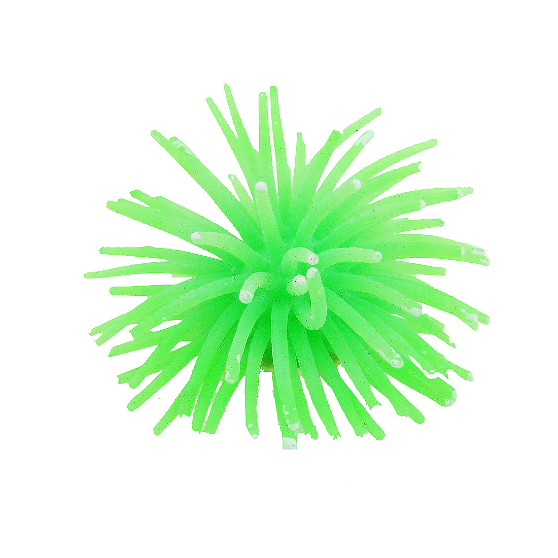 Artificial Lifelike Green Silicone Sea Anemone Decoration Fish Tank 2.3""