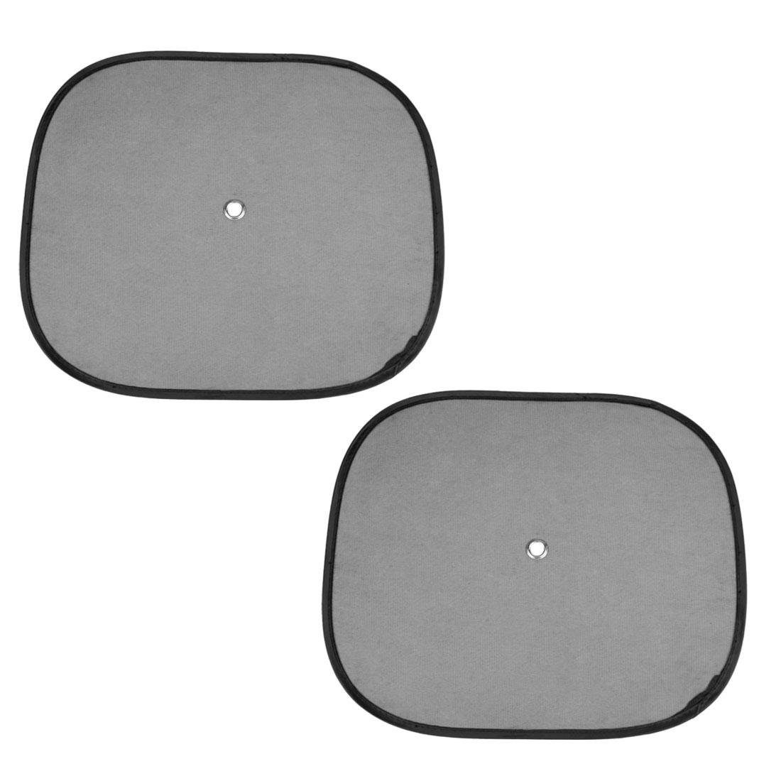 Foldable Portable Car Side Window Mesh Sunshade Black 2 Pcs