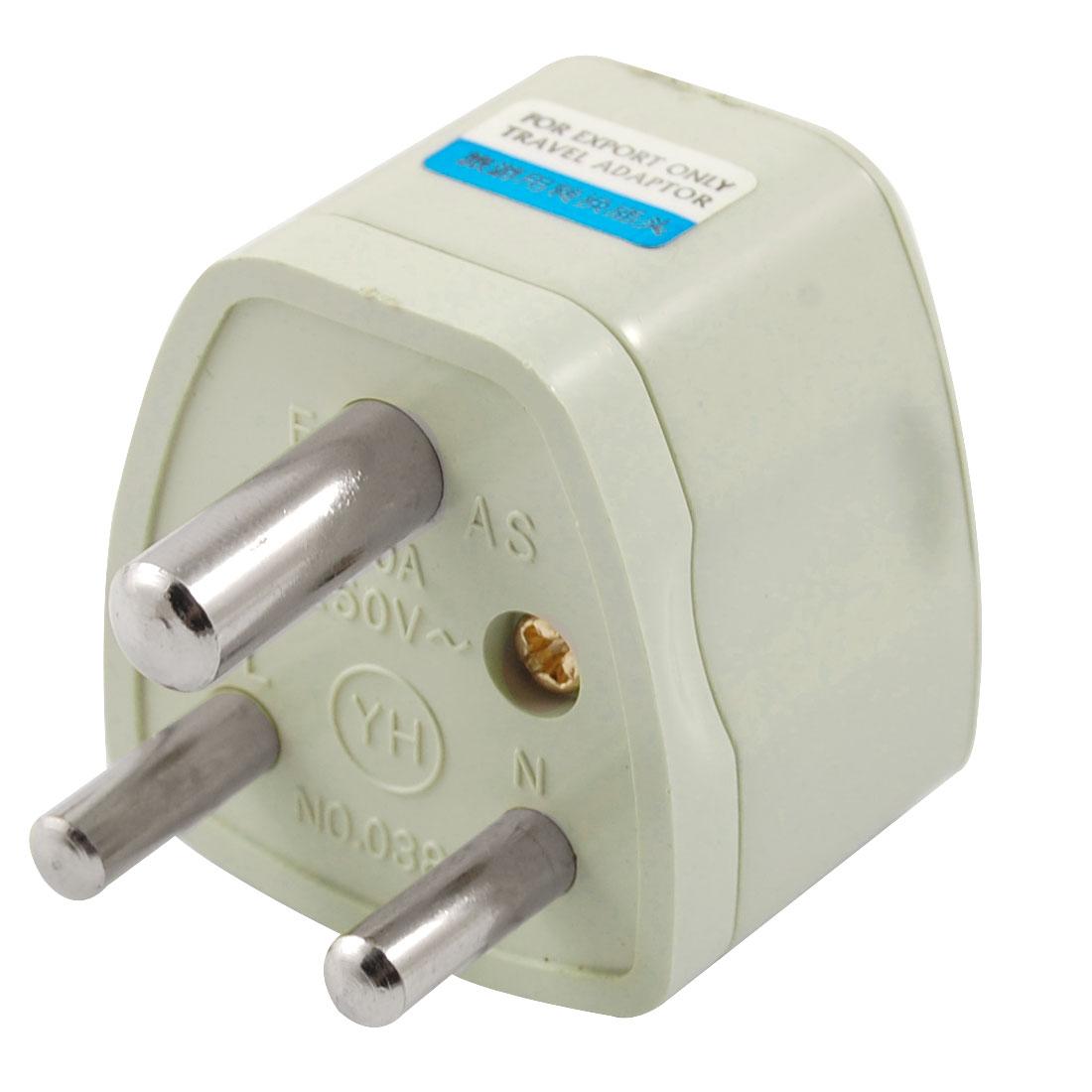 Small South Africa Plug AC 250V to EU US AU UK Socket Travel Adapter