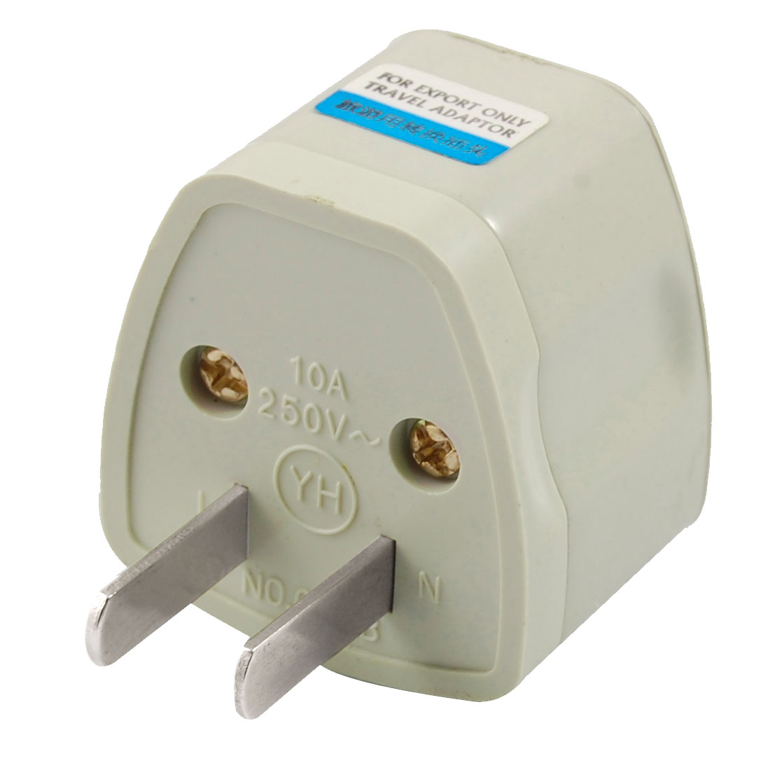 AC 250V 2 Flat Pin Plug to US UK EU AU Socket Power Adapter