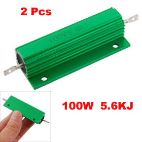 2 Pcs 5.6K Ohm Screw Tap Mounted Aluminum Housed Wirewound Resistors 100W