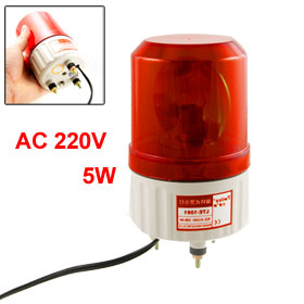 AC 220V Rotating Industrial Signal Tower Warning Light Red