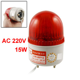 AC 220V Red Industrial Signal Tower Buzzer Sound Alarm Warning Light