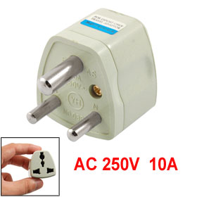 AC 250V Small South Africa Plug to EU US AU UK Socket Travel Adapter