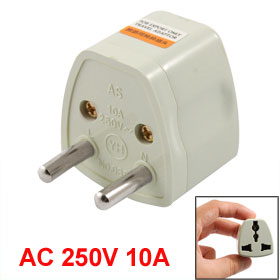 Travel UK US AU Socket to EU 2 Round Pin Plug Adapter AC 250V 10A