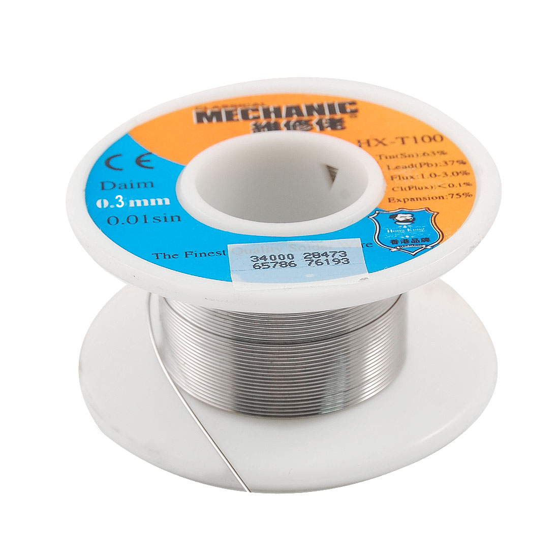 0.3mm 63/37 Flux Tin Lead Solder Soldering Wire Cable Reel Spool