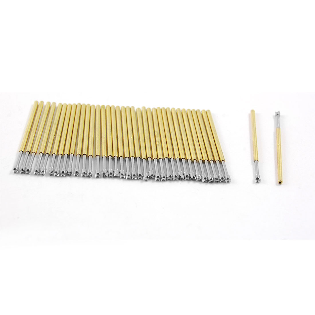 100x 4-Point Crown Tip Spring Test Probes Pins 32.3mm Length P100-Q2