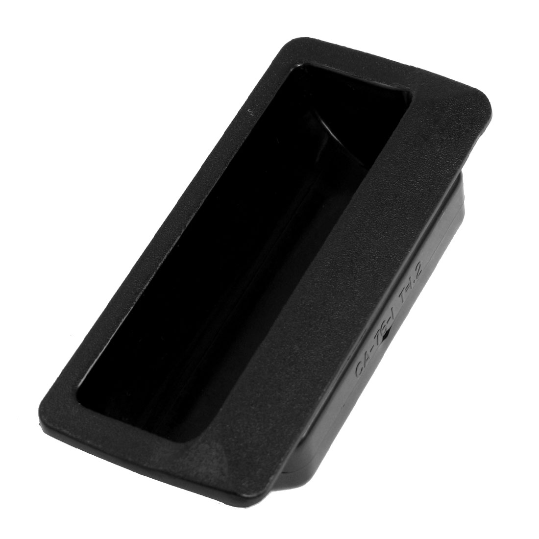 Rectangle Black Plastic Flush Door Pull Handle for Cabinet Drawer