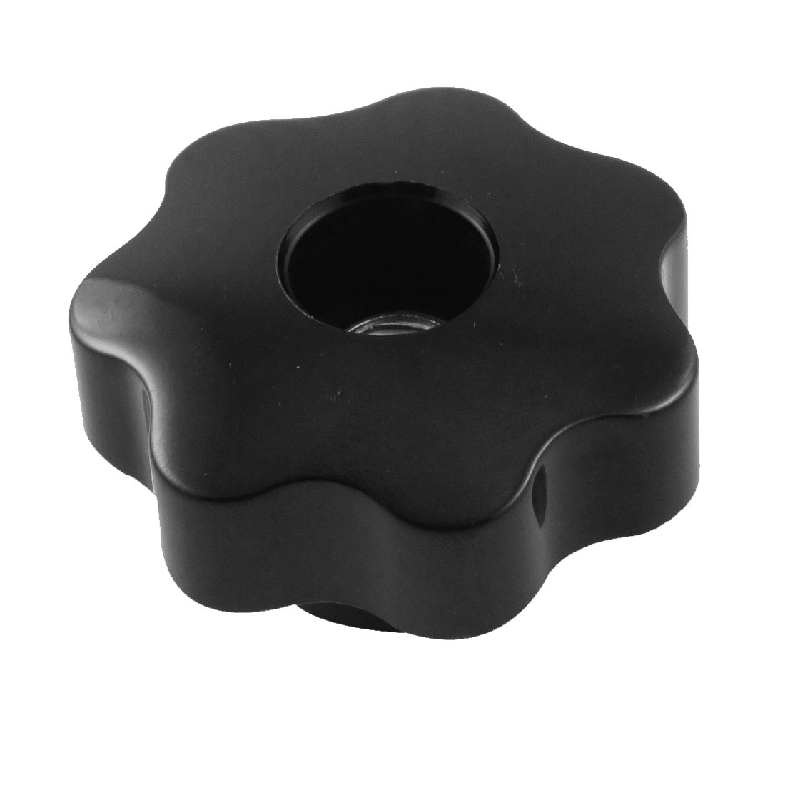 50mm Dia Black Plastic Star Head Metal Clamping Knob Exqnp