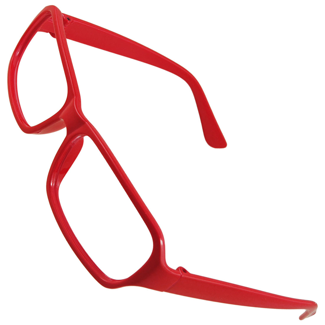 Red Plastic Arms Full Rim Glasses Frame for Ladies