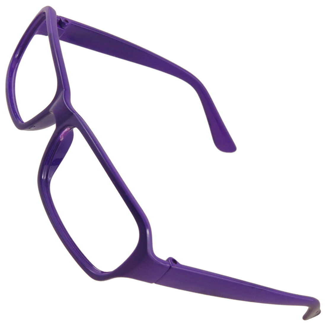 Woman Purple Plastic Arms Full Rim Eyeglasses Frame