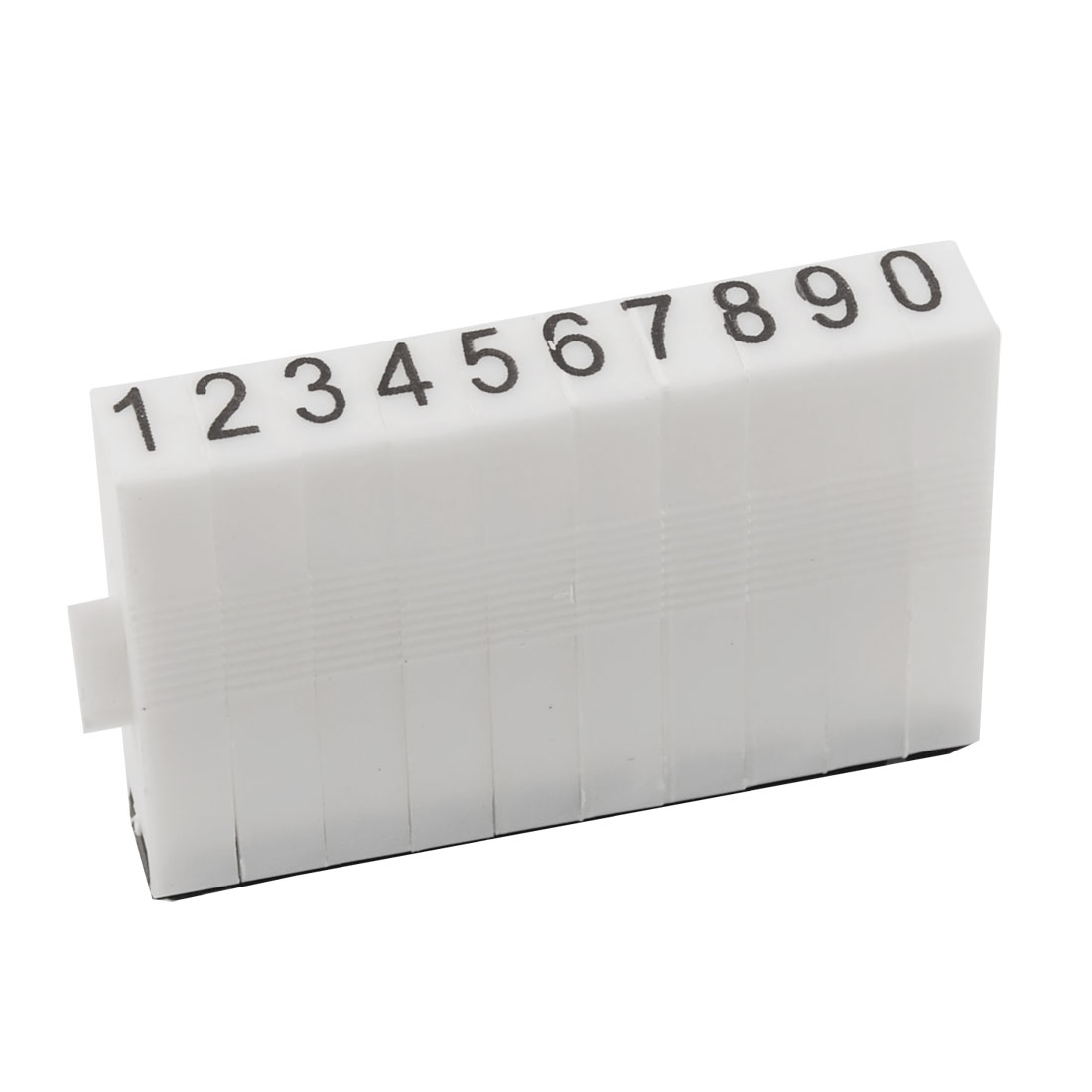 Black Rubber Head 10 Digits Arabic Numerals Combination Stamp Block