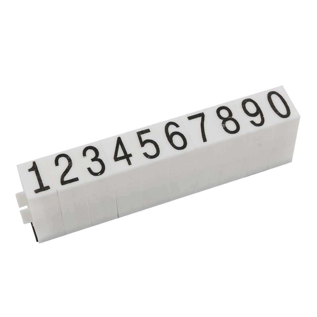 Office Detachable 16mm x 11mm 0-9 Digits Arabic Numerals Stamp