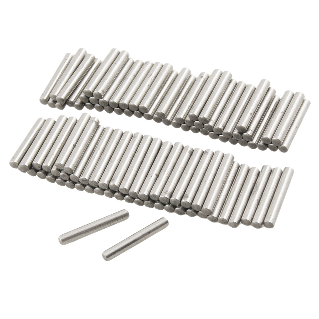 100 Pcs Stainless Steel 2.5mm x 15.8mm Dowel Pins Fasten Elements
