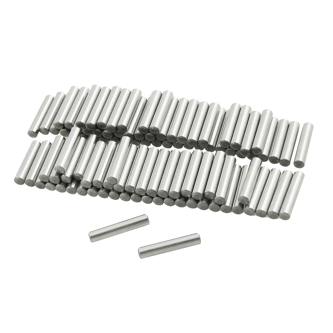 100 Pcs Stainless Steel 3mm x 15.8mm Dowel Pins Fasten Elements
