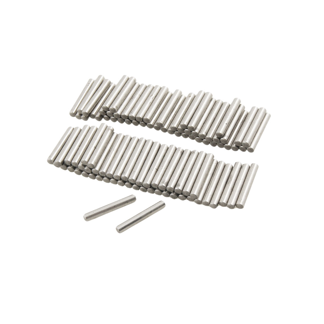 100 Pcs Stainless Steel 2.1mm x 15.8mm Dowel Pins Fasten Elements