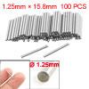 100 Pcs Metal 1.25mm x 15.8mm Dowel Pins Fasten Elements