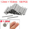 100 Pcs Stainless Steel 1.2mm x 15.8mm Dowel Pins Fasten Elements