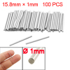 100 Pcs Stainless Steel 1mm x 15.8mm Dowel Terminals Fasten Elements
