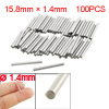 100 Pcs Stainless Steel 1.4mm x 15.8mm Dowel Pins Fasten Elements