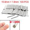 100 Pcs Stainless Steel 1.6mm x 15.8mm Dowel Pins Fasten Elements