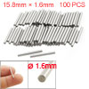 100 Pcs Stainless Steel 1.6mm x 15.8mm Cylinder Dowel Pins Fasten Elements