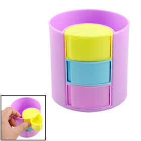 Stationery Lilac Plastic Cylinder Shaped Pencil Pen Holder