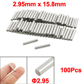 100 Pcs Stainless Steel 2.95mm x 15.8mm Dowel Pins Fasten Elements