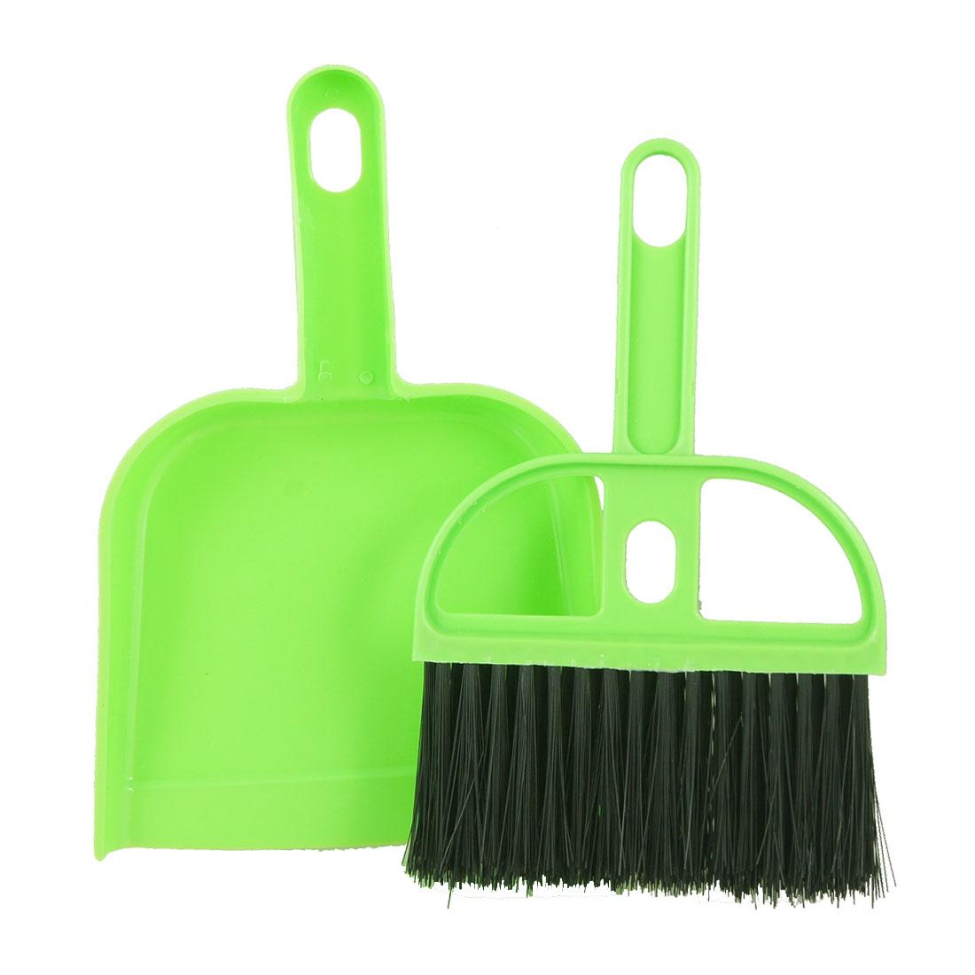Mini Green Black Car Keyboard Cleaning Whisk Broom Dustpan Set