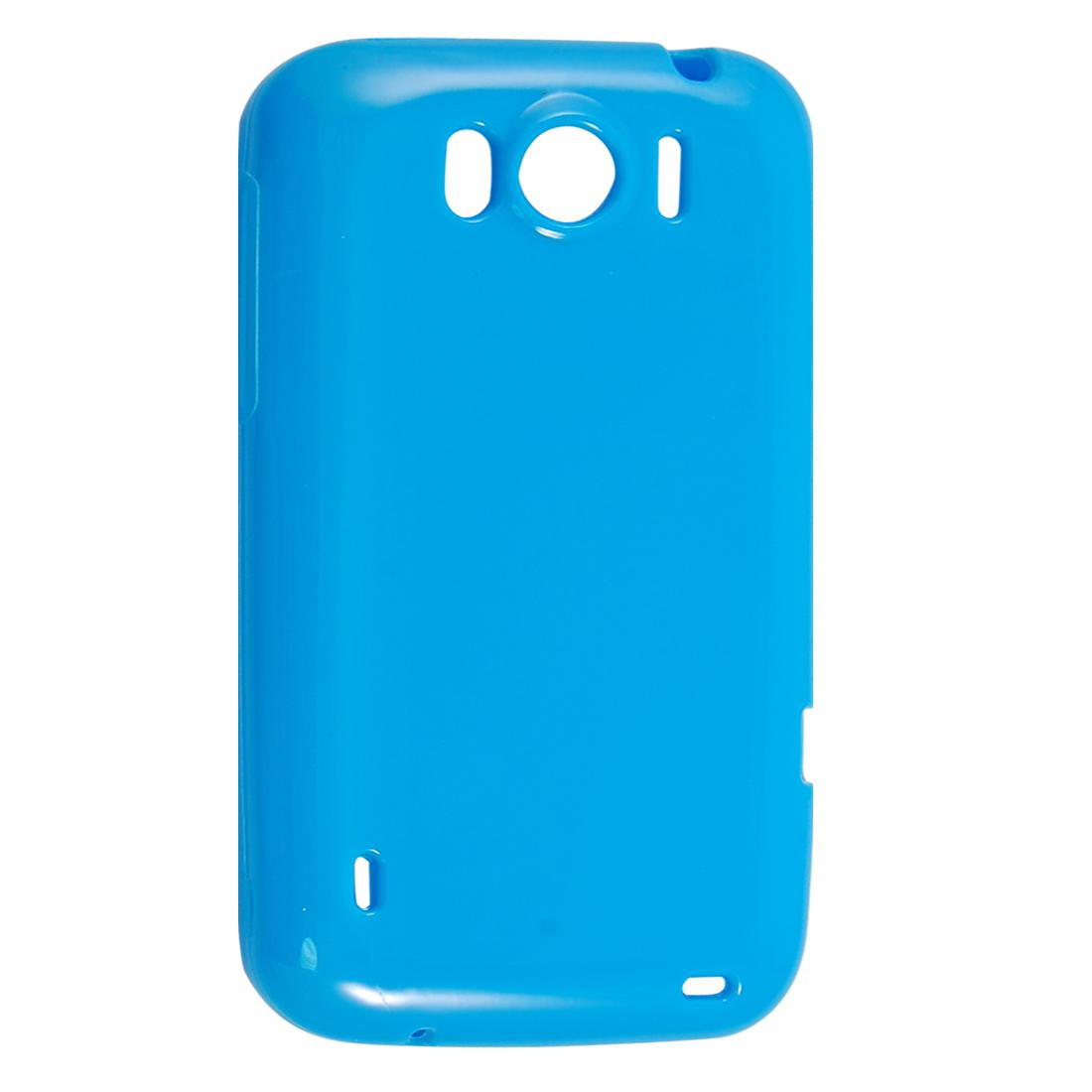 Blue Smooth Soft Plastic Protector Cover for HTC Sensation XL X315E G21