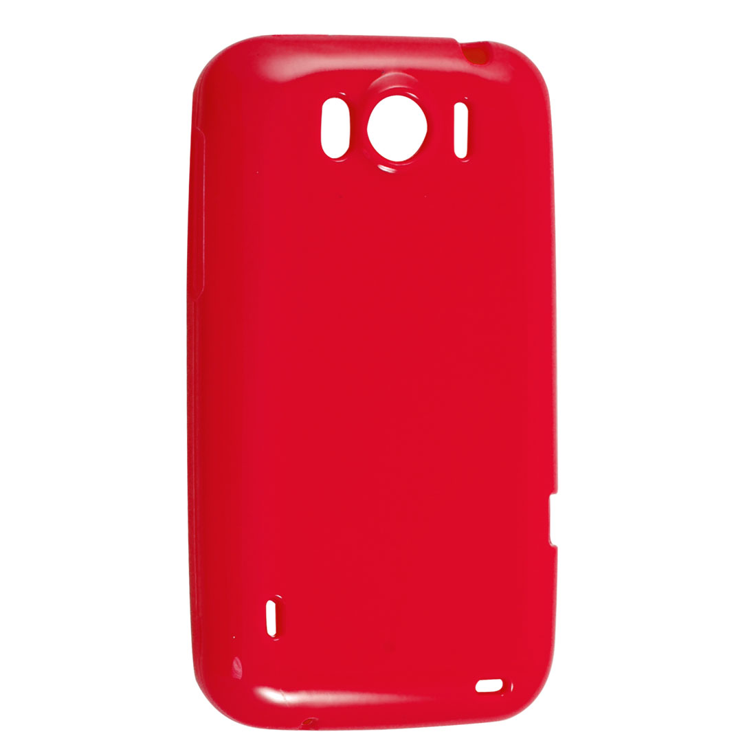 Smooth Soft Red Plastic Protector Cover for HTC Sensation XL X315E G21