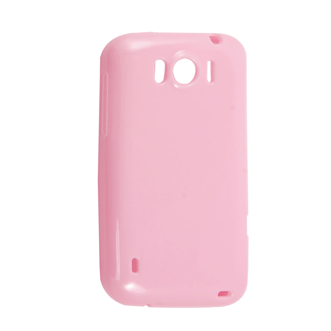 Pink Smooth Soft Plastic Protector Cover for HTC Sensation XL X315E G21