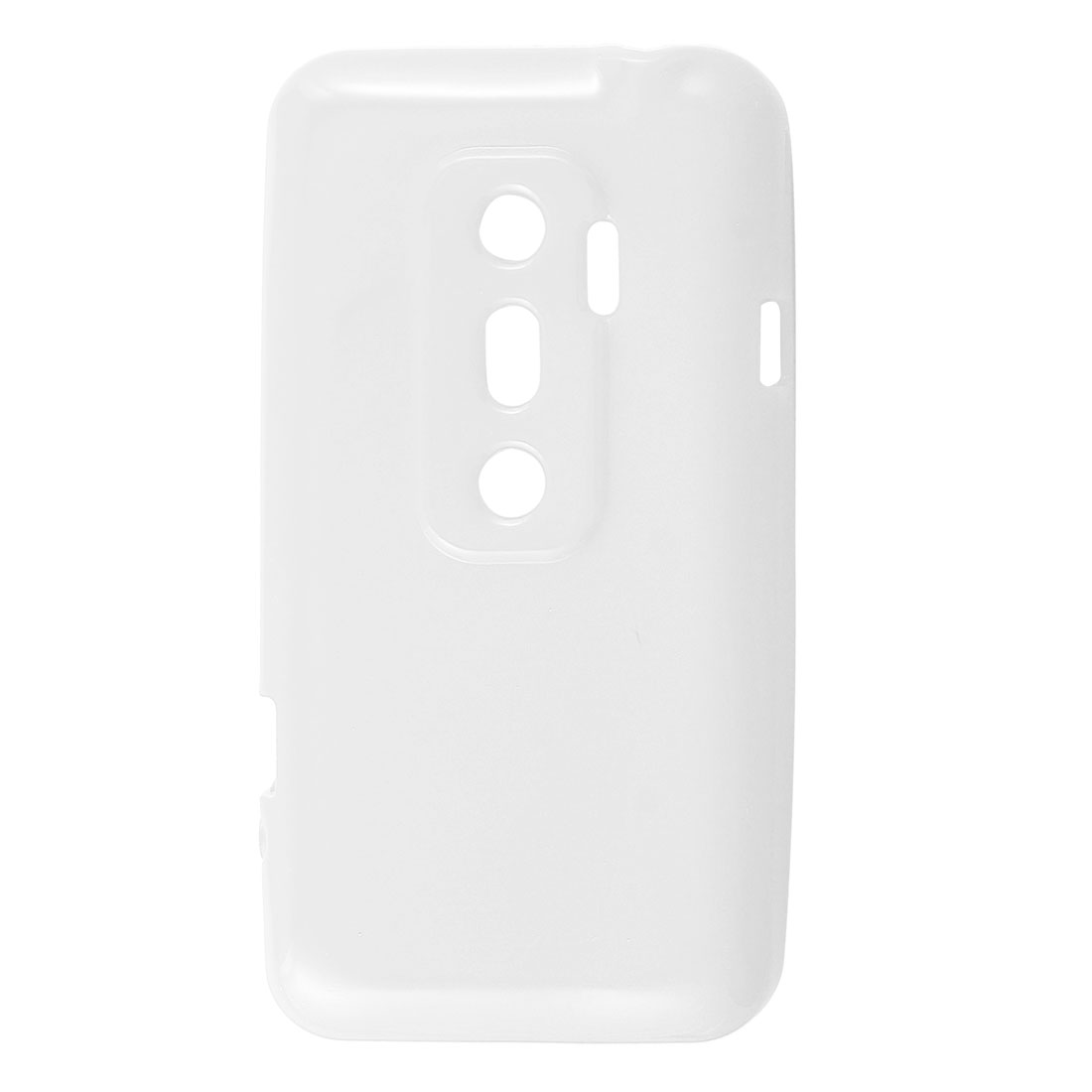 White Protective Soft Plastic Case Cover for HTC EVO 3D G17