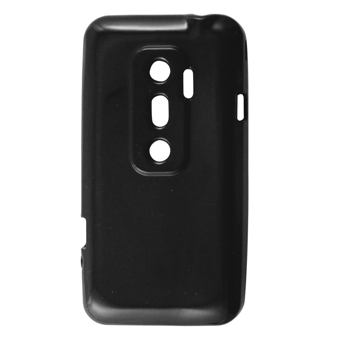 Protective Soft Plastic Black Cover Case Shell for HTC EVO 3D G17