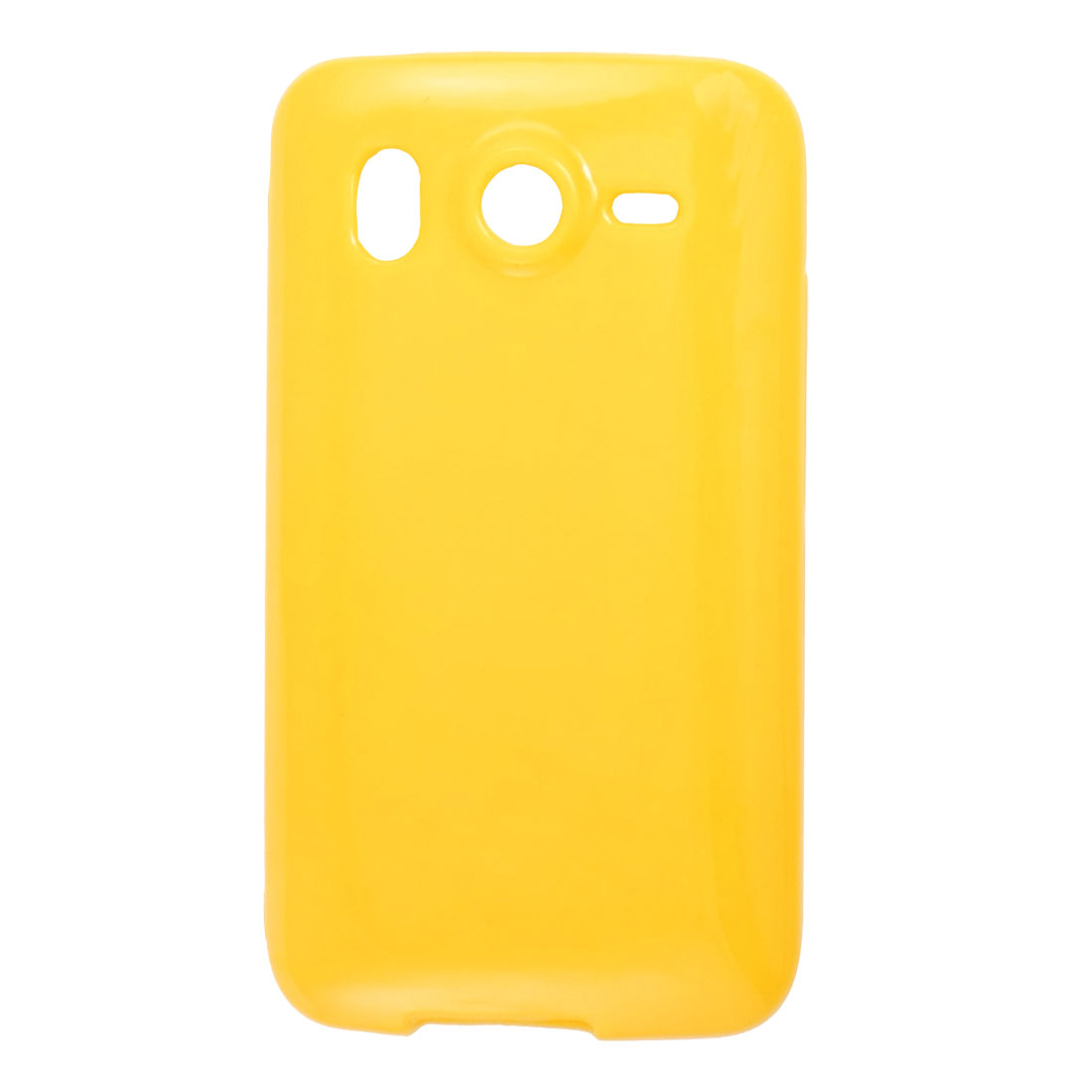 Yellow Soft Plastic Protective Cover for HTC Desire HD G10