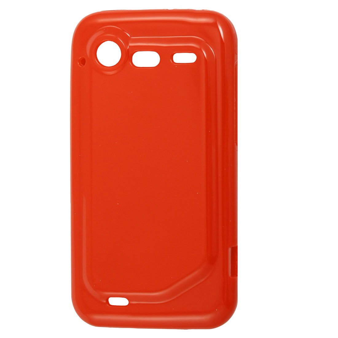 Red Soft Plastic Protective Cover for HTC Incredible S G11 S710e