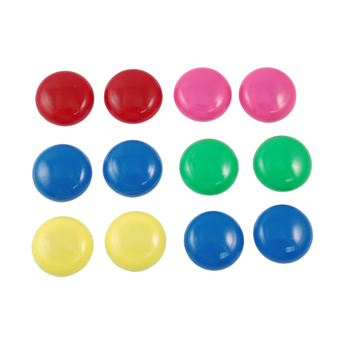 12 x Whiteboard Assorted Color Round Plastic Cover Magnetic Stickers